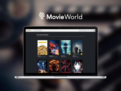 Movieworld app logo branding ux ui design web
