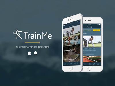 Trainme, tu entrenamiento personal app logo branding ux ui design web
