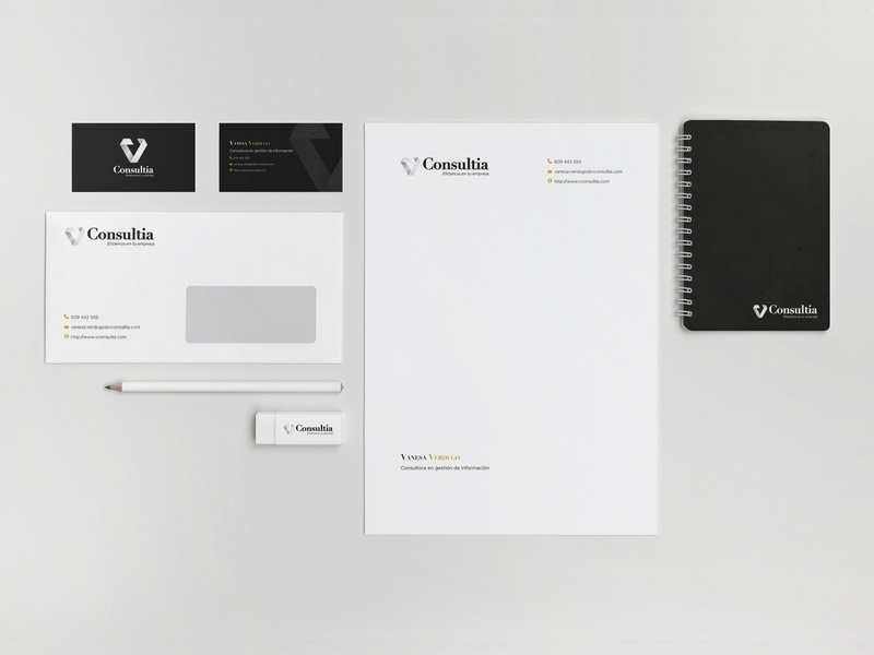 Branding VConsultia typography logo branding design