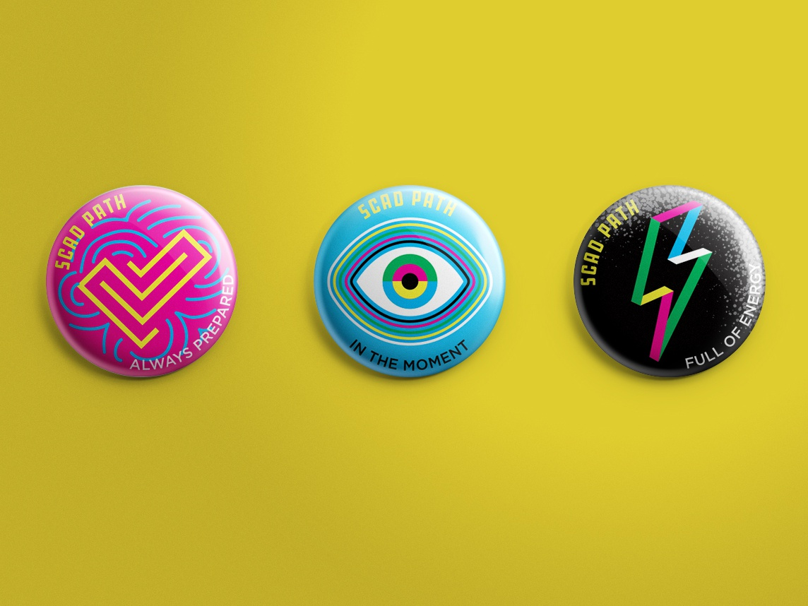 SCAD PATH buttons buttons swag icons pins