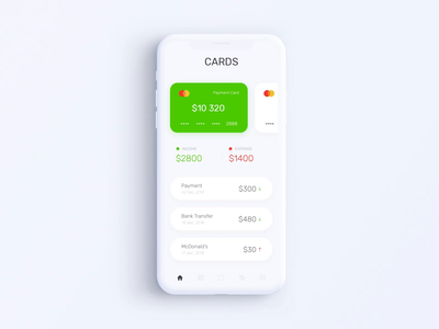Privat24 Banking App - Home Screen Animation