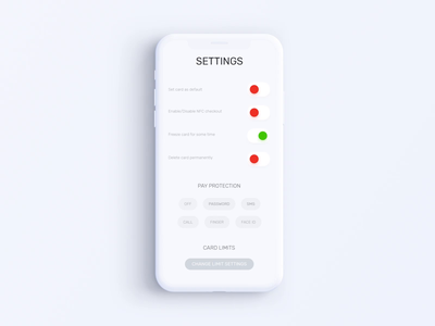 Privat24 Banking App - Settings Animation