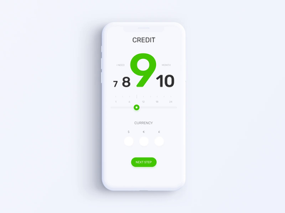Privat24 Banking App - Credit Calculator Animation