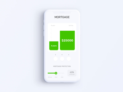 Privat24 Banking App - Mortgage Calculator Animation