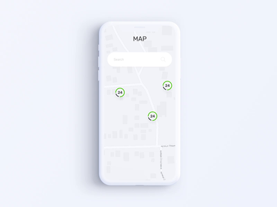 Privat24 Banking App - Map Animation
