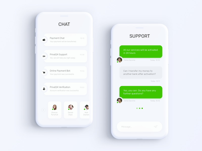 Design Bank Wit.Privat24 Banking App Chats Messages By Denis Ushakov On Dribbble