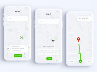 Privat24 Banking App - Branch Map
