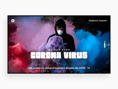 Corona (Covid 19) web webdesign covid 19 covid-19 covid19 coronavirus corona illustration designer homepage landing template design creative