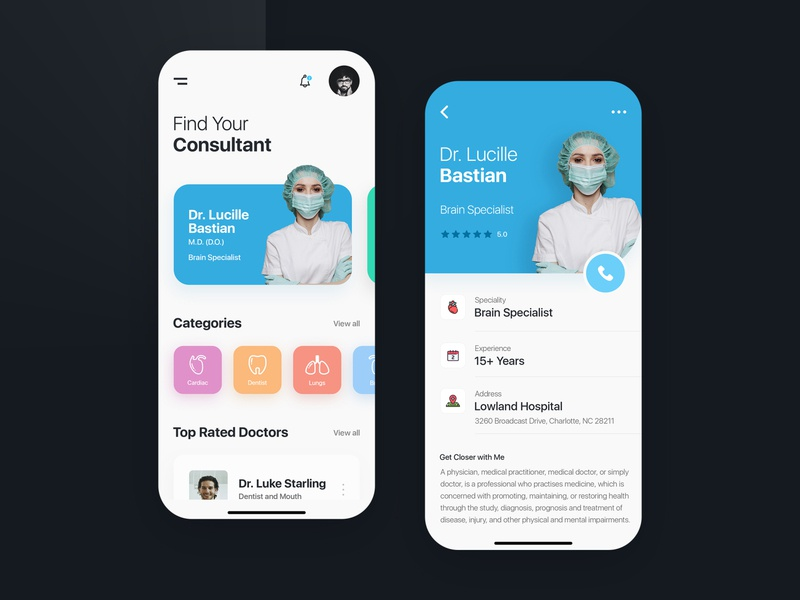 Doctor on Demand - Mobile App mobile ui mobile app design mobile app mobile uiux ux doctor on demand demand doctor app doctor application ui kits web app designer ui kit template ui creative design