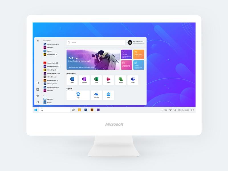 Windows 11 Concept operating system os windows app microsoft designer minimalistic uplabs minimal design concept windows 11 windows