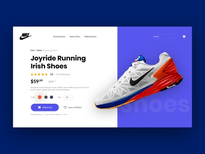 Shoes - Product Page website design web design homepage web creative template ui product product page cart shopping cart ecommerce shop ecommerce app ecommerce shopping shoes store shoes app shoes