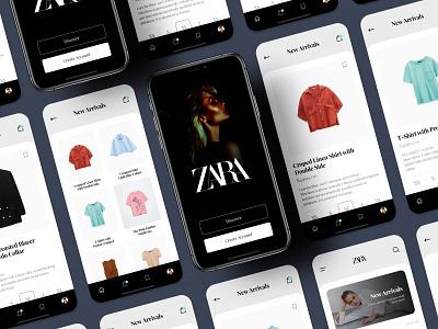 Zara - Shopping App ui design ecommerce design ecommerce app store app store modern ios android mobile app design challenge uplabs fashion shopping shopping app ecommerce zara app zara