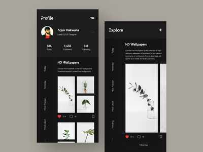 Discover Social Profile design creative detail page exploring ui kit uiux mobile ui kit ios android mobile application mobile ui design mobile app design profile design profile page explore socialmedia profile social discover