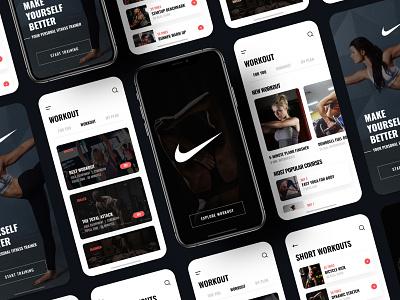 Nike Workout App training app trainings train training nike running mobile application mobile app gym app gym fitness club fitness app workout tracker workout app workouts fitness workout nike