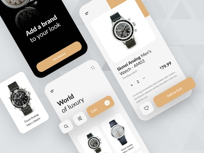 Watch App UI Kit ecommerce design ecommerce app design store store app mobile application shop shopping app ecommerce store ecommerce app watch app watches watch