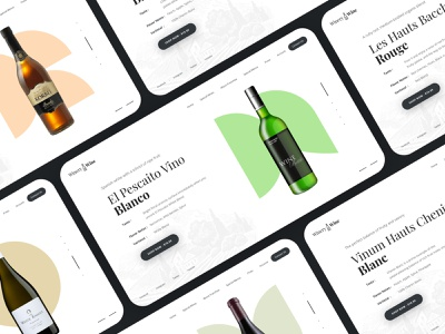 Winery - Creative Landing Page Hero Sections beer wine store creative  design creative design mockup design ecommerce website store app ecommerce creative layout templates web templates homepage wine banner sections hero section landing page creative landing page hero sections