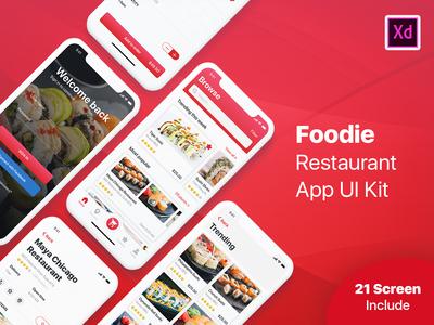 Foodie - Restaurant App UI Kit - Adobe XD