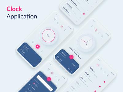 Clock, Alarm Application UI Kit
