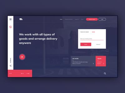 Transport - Creative Landing Page