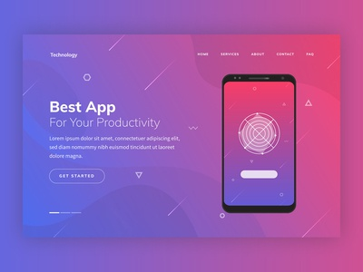Technology Creative Landing Page Template