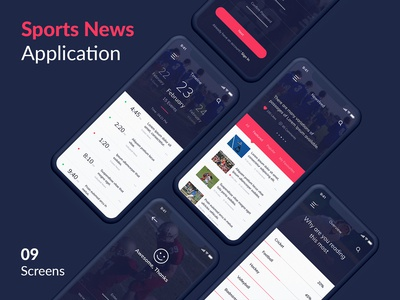 Sports News Application UI Kit