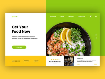 Eat's Up - Restaurant Landing Page Template