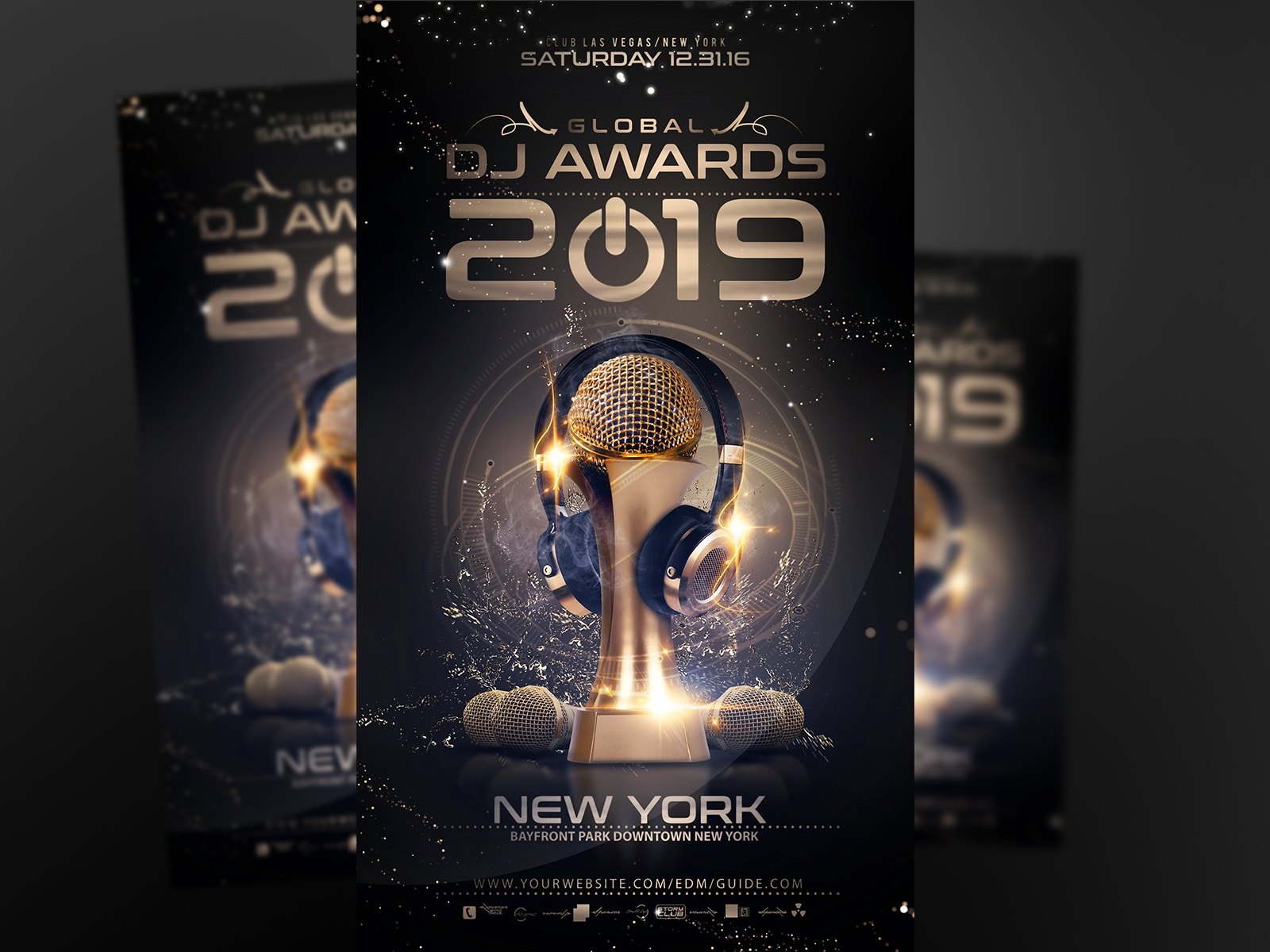 Dj Awards Flyer Template by Vallo Leiman - Dribbble