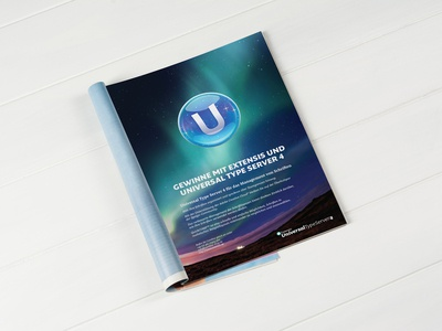Universal Type Server Full Page Advertisement Design