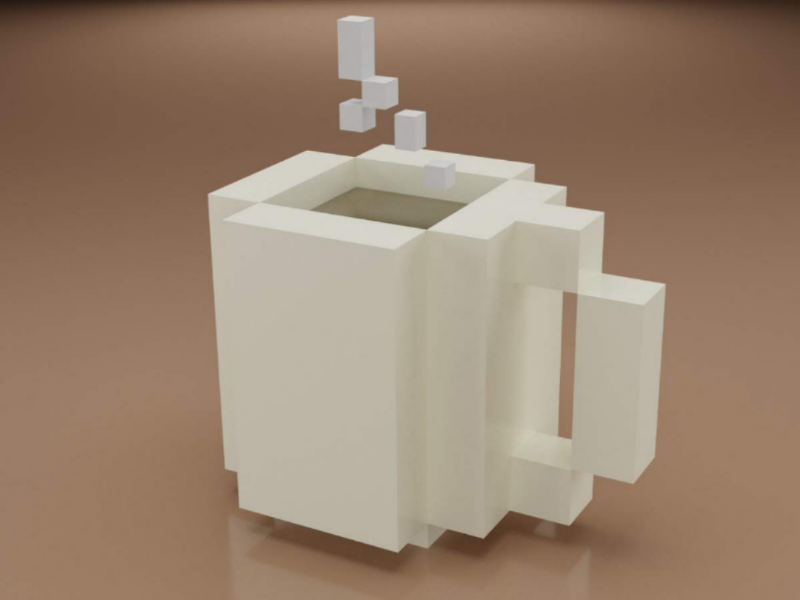 Cuppa Anyone? low poly 3d render blender 3d blender graphic design design