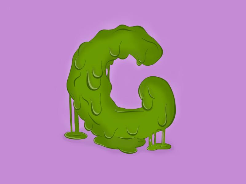 G for goo procreate illustration alphabet goo lettering hand lettering graphics graphic design