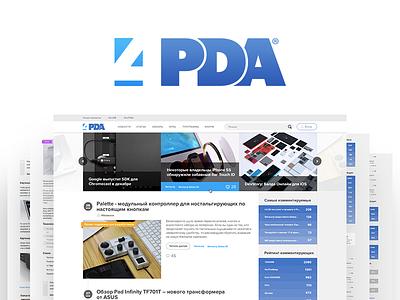 4PDA Redesign Case Study 4pda info portal devices technology tech responsive case study web ui ux