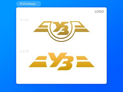 UZredesign #1 LOGO identity branding gold icon redesign vector logo logotype uzredesign