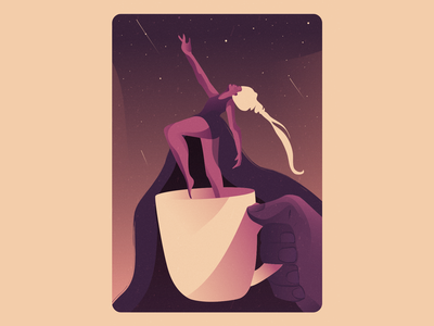 Moonage Daydream art direction vector colour palette inspiration editorial illustration freelance artist art illustrator design graphic design illustration artwork