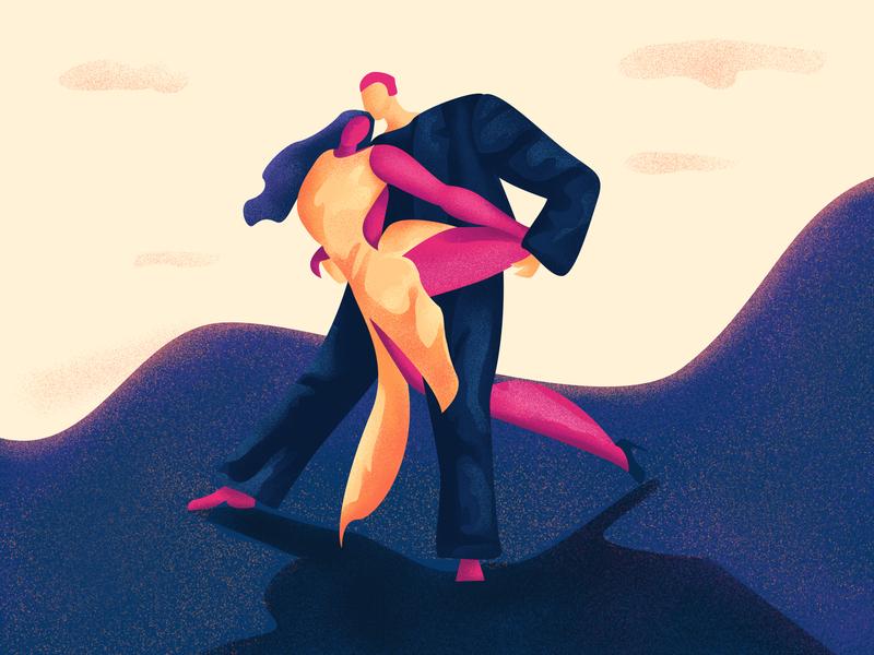 Argentine Tango   Dancing Moves Series graphic design bulgarian design branding inspiration illustrator adobe commision art artist digital art direction illustration art landing page illustration web  design digital drawing digital art illustration dance moves dancing tango argentine
