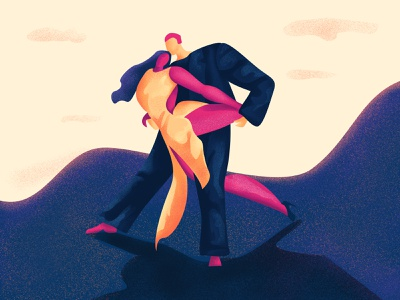 Argentine Tango | Dancing Moves Series graphic design bulgarian design branding inspiration illustrator adobe commision art artist digital art direction illustration art landing page illustration web  design digital drawing digital art illustration dance moves dancing tango argentine