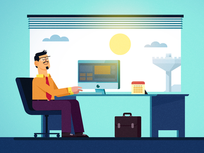 Busy @ work busy explayin branding design india vector animation illustration