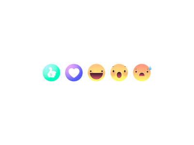 Social Network Reactions character vector illustration icon design