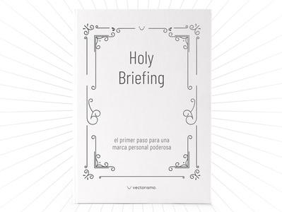 Holy Briefing eBook - Vectorismo editorial graphic  design design ebook cover ebook