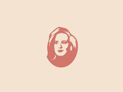 Adele Portrait Stencil art portrait logo design illustration icon character vector