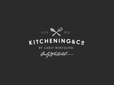 K & Co. (WIP) kitchen food baking logo design sweets vintage authentic handmade