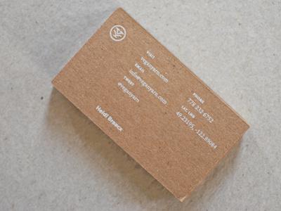 kraft cards business cards kraft vegan yarn spot white chipboard design print