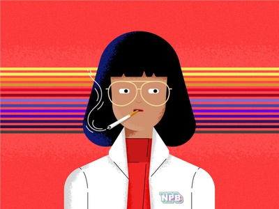 Dr Azumi Fujita fanart tvshow character girl charachter design illustration