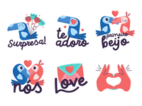 Stickers Namorados