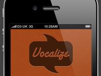 Vocalize (App Interface Design)