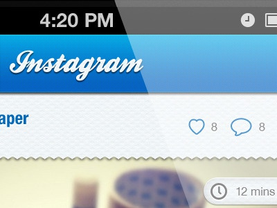 Instagram Facelift #5 w/attachment 12mins ios app iphone texture wrapping goodonpaper blue instagram