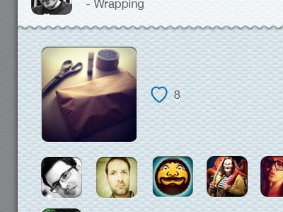 Instagram Facelift #6 - Likes instagram blue likes heart avatar wrapping texture iphone app ios