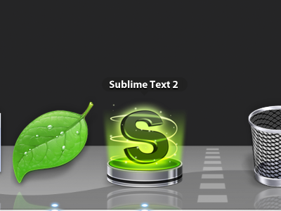 Sublime Text 2 (update) - Replacement Icon sublime text 2 text app mac osx icon shiny spiral glow chrome sublime code green