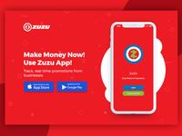 Zuzu Mobile App Landing Page