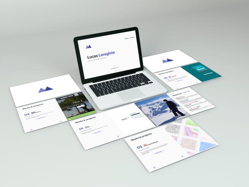 Lucas Lareginie's portfolio 2019 projects vuejs logo web development portfolio