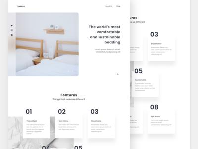 Landing Page - Sweave web design shop bedroom bedding landing page web adobe adobe xd design